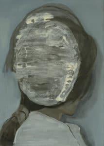 Anna Maria Schönrock: Double, 29 x 21 cm, Öl auf Papier, 2019
