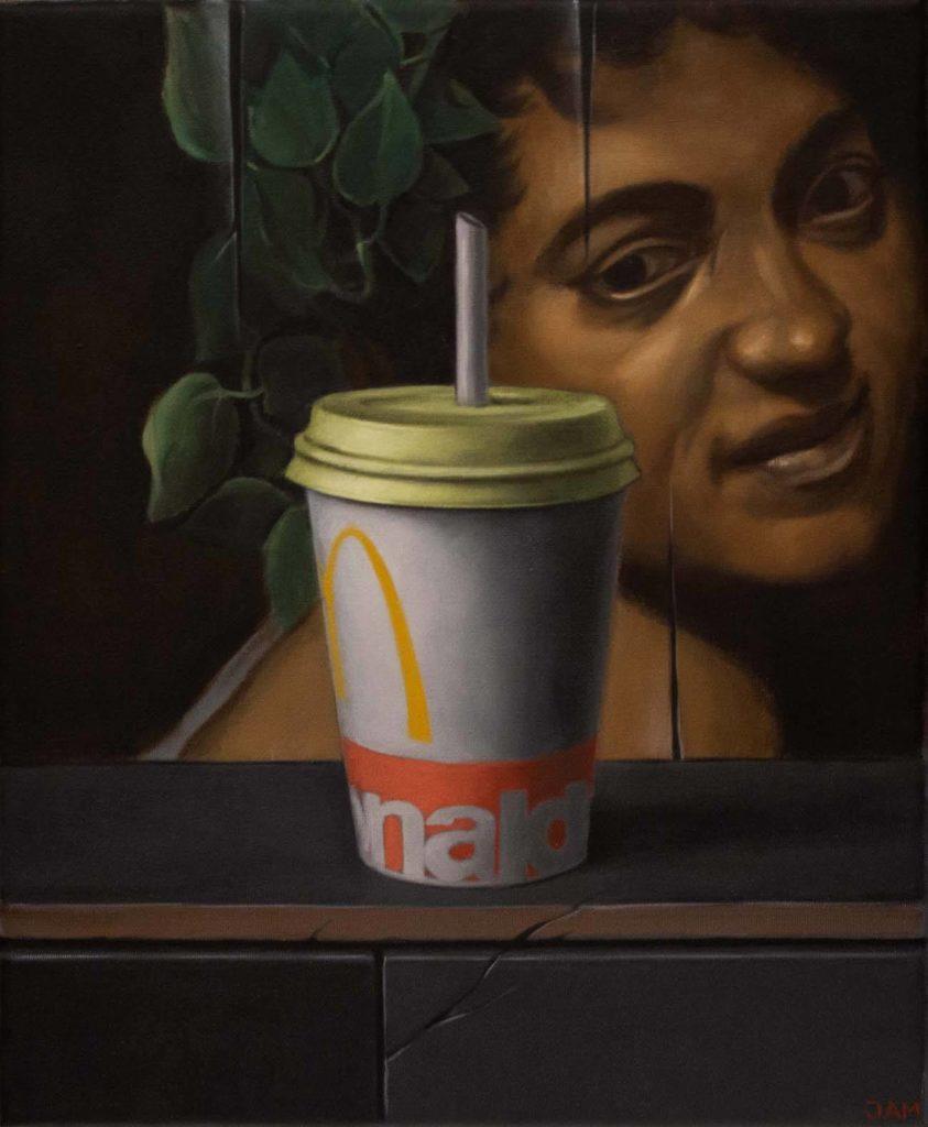 Michael Jampolski: Bacchus, 30x24 cm