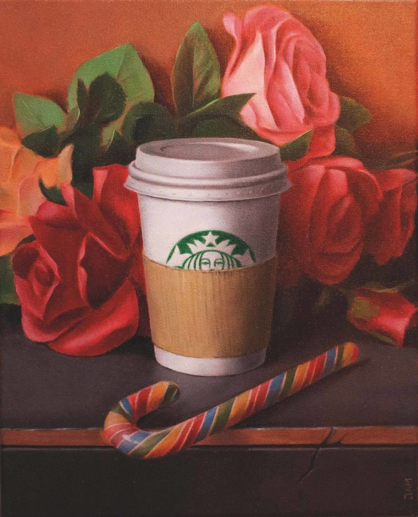 Michael Jampolski: My Sugar Alice In Plastic Roses, 30x24 cm