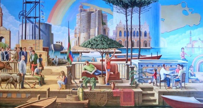 Painter Michael Jampolski from Nürnberg