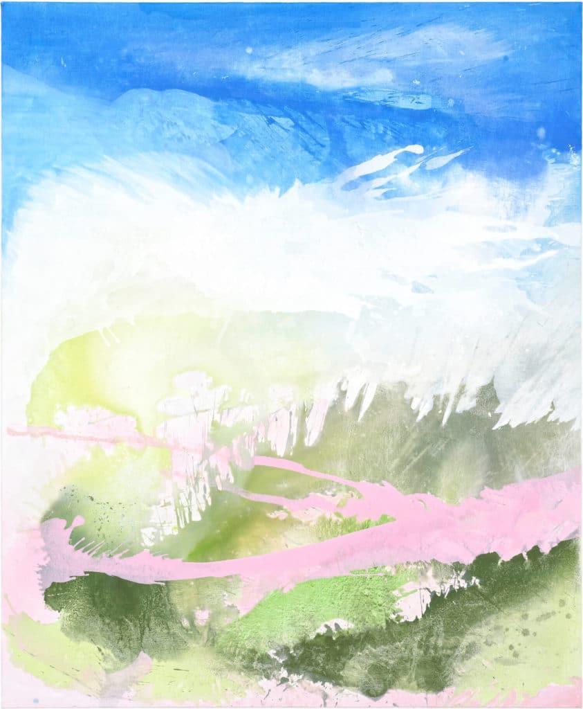 Drunter&drübe, 2019, 170x150 cm, Vinyl on canvas, © Julia Frischmann