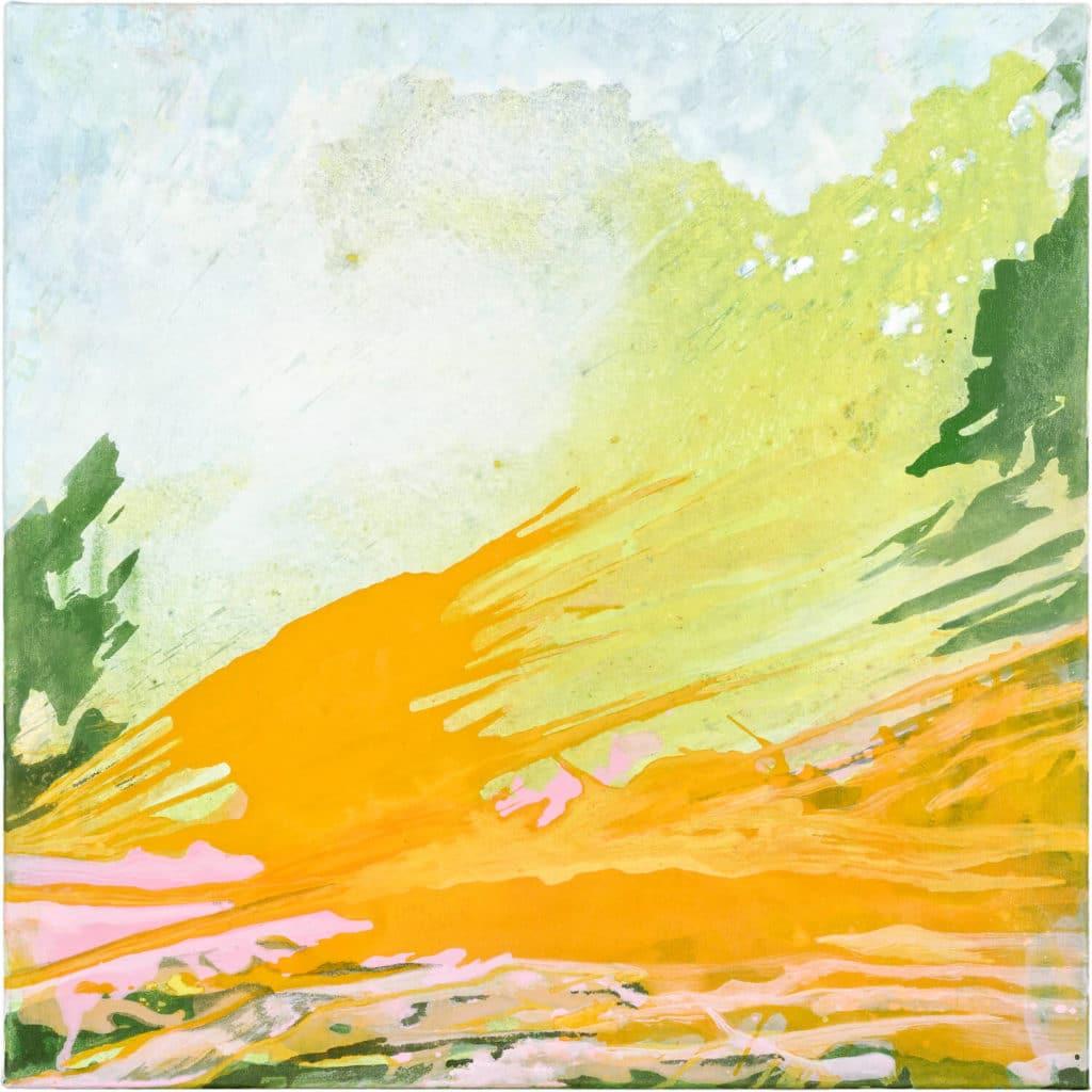 Julia Frischmann: o.T., 2019, 70x70 cm, Vinyl auf Leinwand