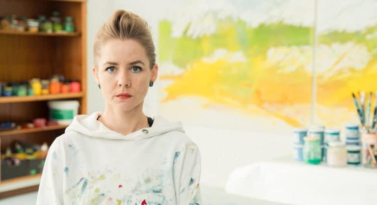 Die Malerin Julia Frischmann