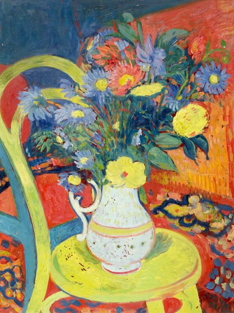 Georg Weidenbacher (1905–1984) Blumenstillleben, o. J. Ölgemälde auf Hartfaserplatte, 78 x 59 cm Foto: Galerie Jacobsa, Nürnberg