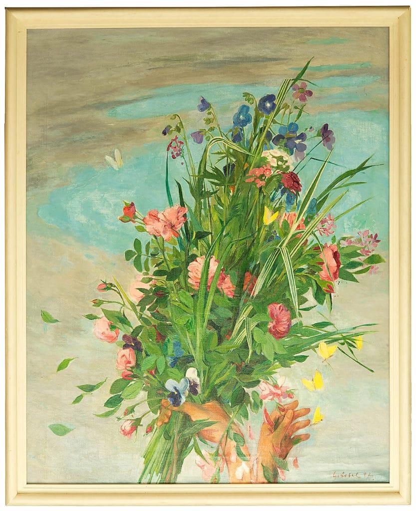 Fritz Griebel (1899–1976) Strauß im Juni, 1937 Öl auf Leinwand, 100 x 80 cm Foto: Weißes Schloss Heroldsberg