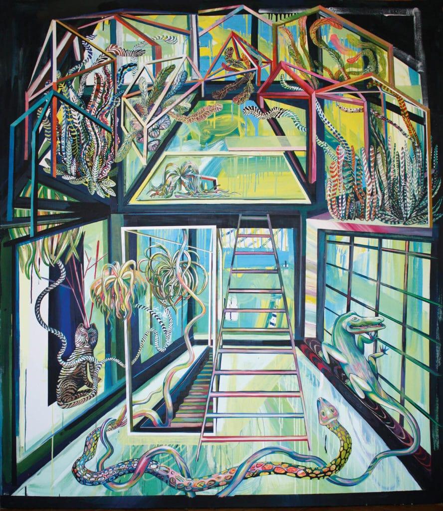Marina Friedrich Gewächshaus, 2020 Acryl auf Leinwand, 180 x 150 cm