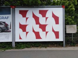 Karina Kueffner: Plakatwand, Von-der-Tann-Straße, gegenüber Siemens.