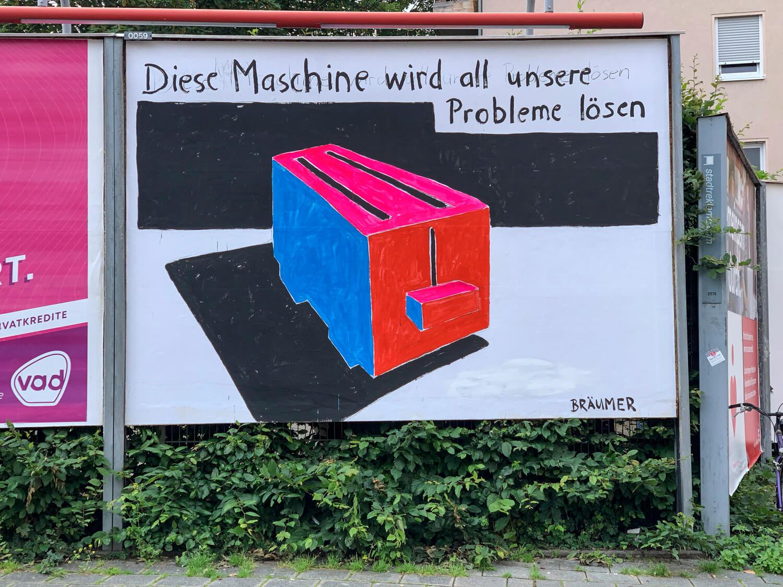 Kunst-Anschlag – Signale aus der Nürnberger Szene / Dekade 2 , Jan Bräumer, Foto: Jutta Missbach
