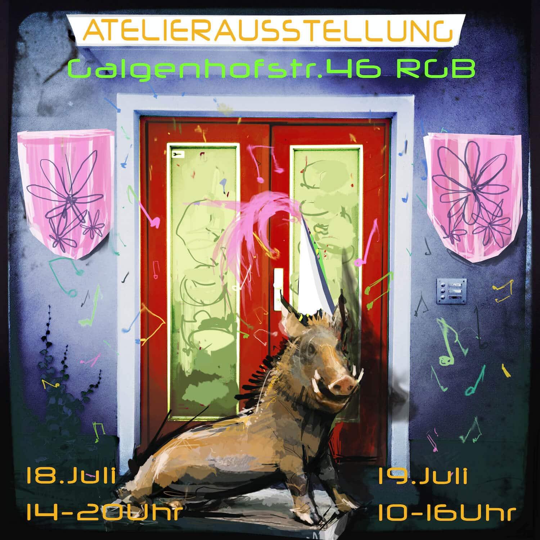 Atelierausstellung der 5 Künstler der Galgenhofstraße 46 RG