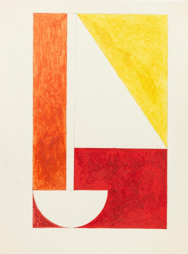 (Schiff) Ablegen 1992 28,2 x 23,5 Wasserfarben auf Papier, Foto: Annette Kradisch