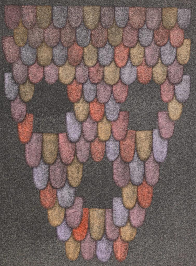 Andreas Oehlert, lichten 3, 19 x 14 cm, Aquarell, 2020, Foto: Annette Kradisch