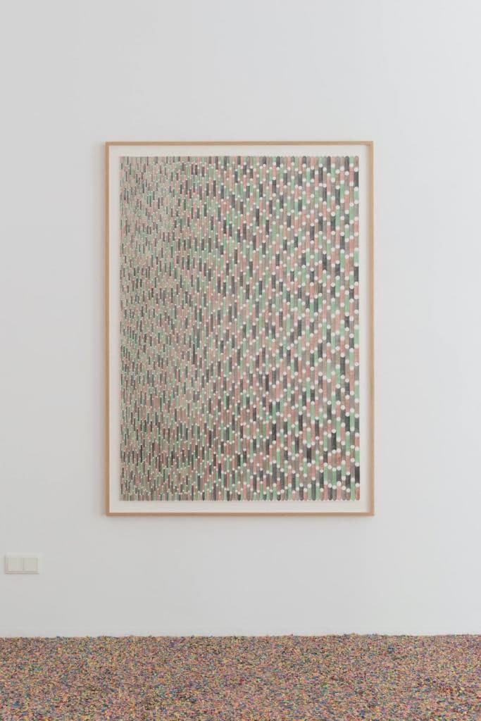 Andreas Oehlert, Erwartung 4, 2015 150x104 cm (Blattgröße) Aquarell, Papier, Foto: Annette Kradisch