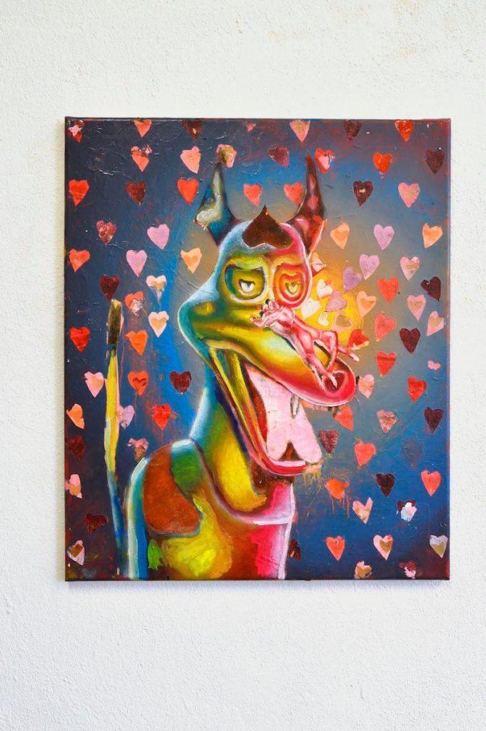 Michael Eppler, komissarsex, 2020, 60x50 cm, Öl auf Leinwand