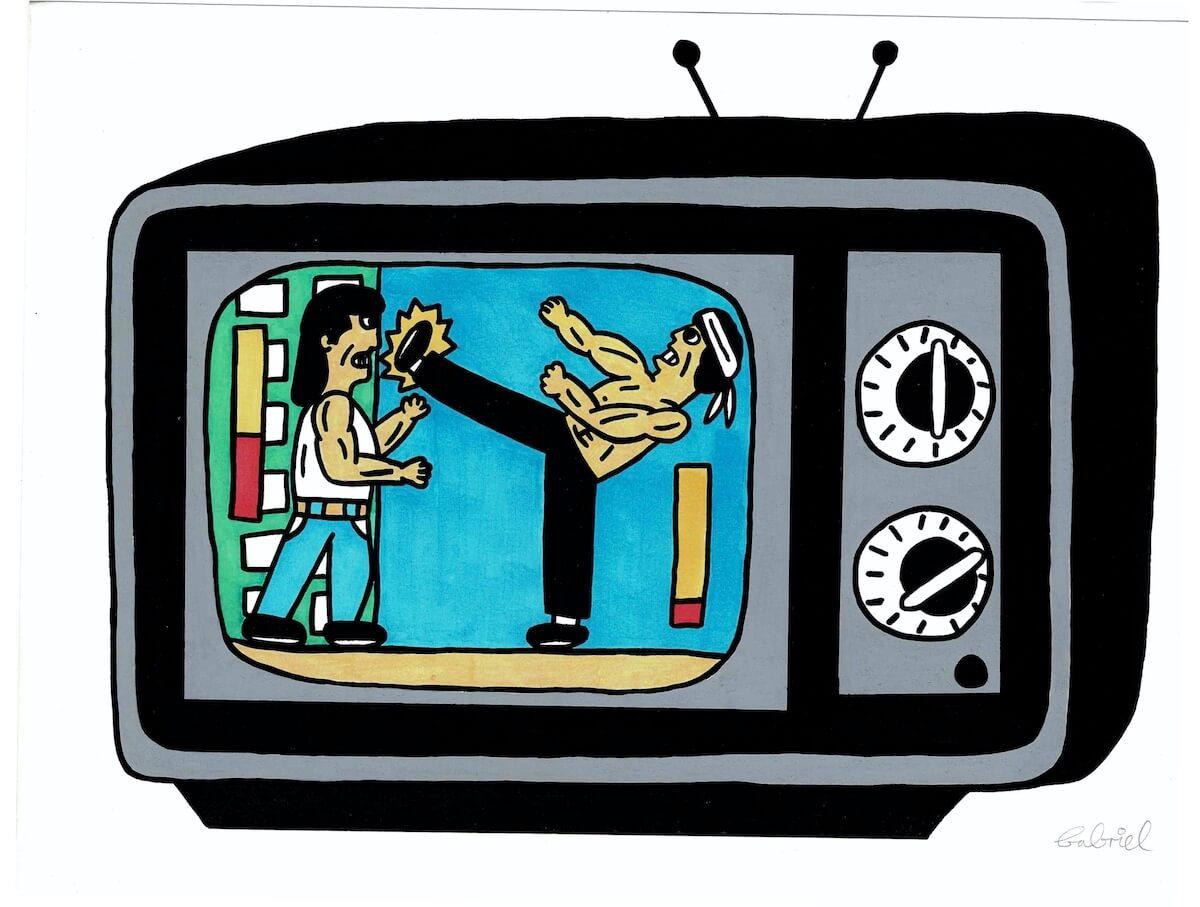 pizzaboobs, KUNG FU TV, Tinte und Marker auf 220 g Papier, © pizzaboobs
