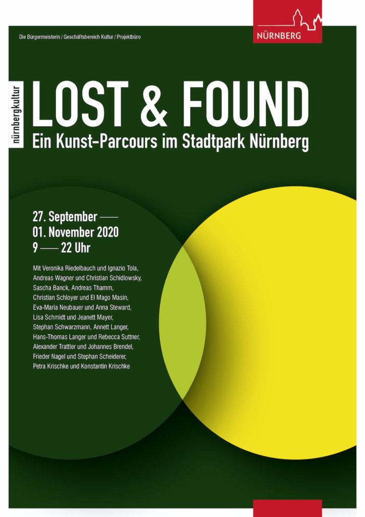 """""""Lost & Found – Ein Kunst-Parcours im Stadtpark Nürnberg, 27.09–1.11.2020"""