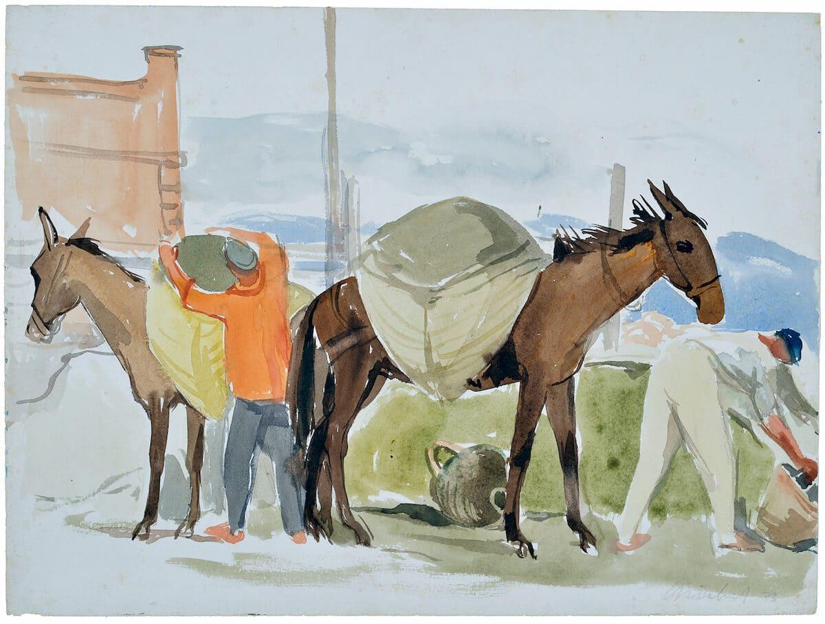Fritz Griebel - Meisterhafte Aquarellmalerei im Weißen Schloss Heroldsberg, 30.10.2020 bis 09.05.2021