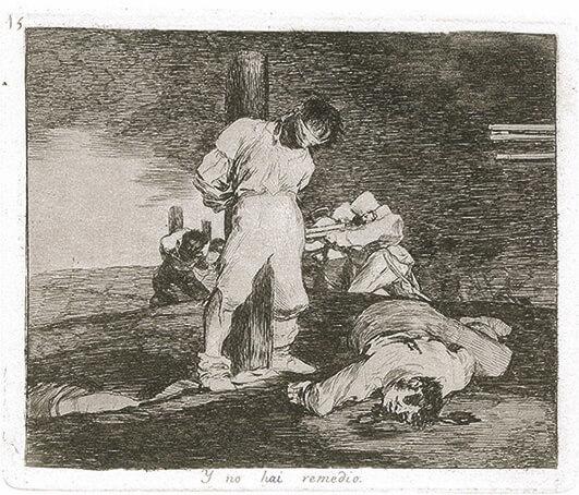 Goya_Blatt 15, Los Desastres, © Museum Lothar Fischer