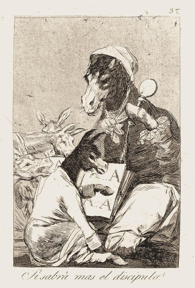 Goya_Blatt 37, Los Caprichos, © Museum Lothar Fischer