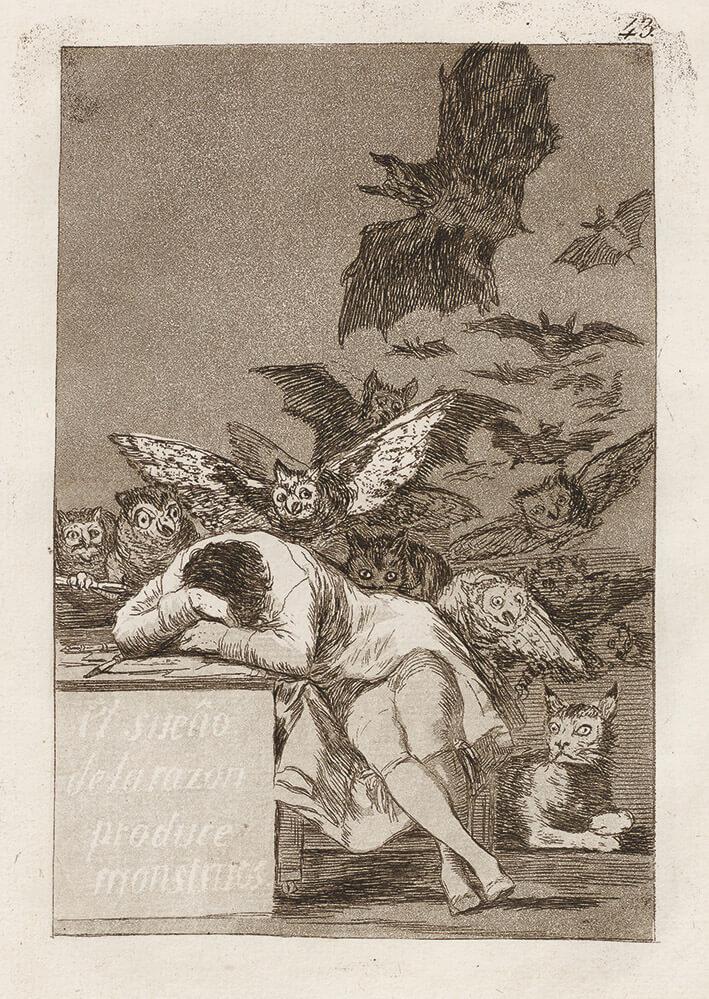 Goya_Blatt 43, Los Caprichos, , © Museum Lothar Fischer