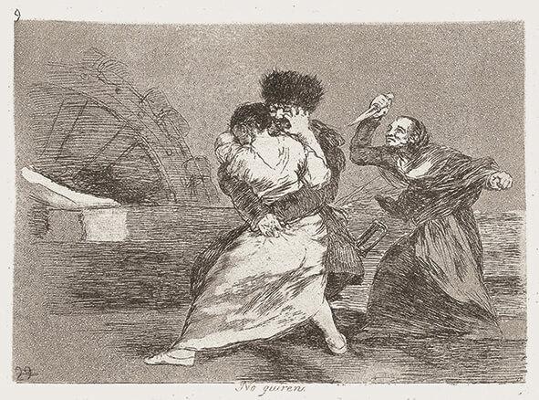 Goya_Blatt 9, Los Desastres, © Museum Lothar Fischer