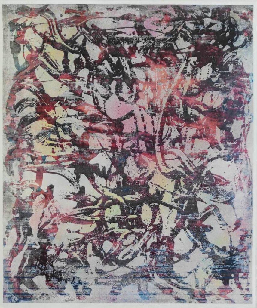 Philipp Zörndlein: o.T., Digitaler Druck auf Metallplatte, 26 x 19 cm