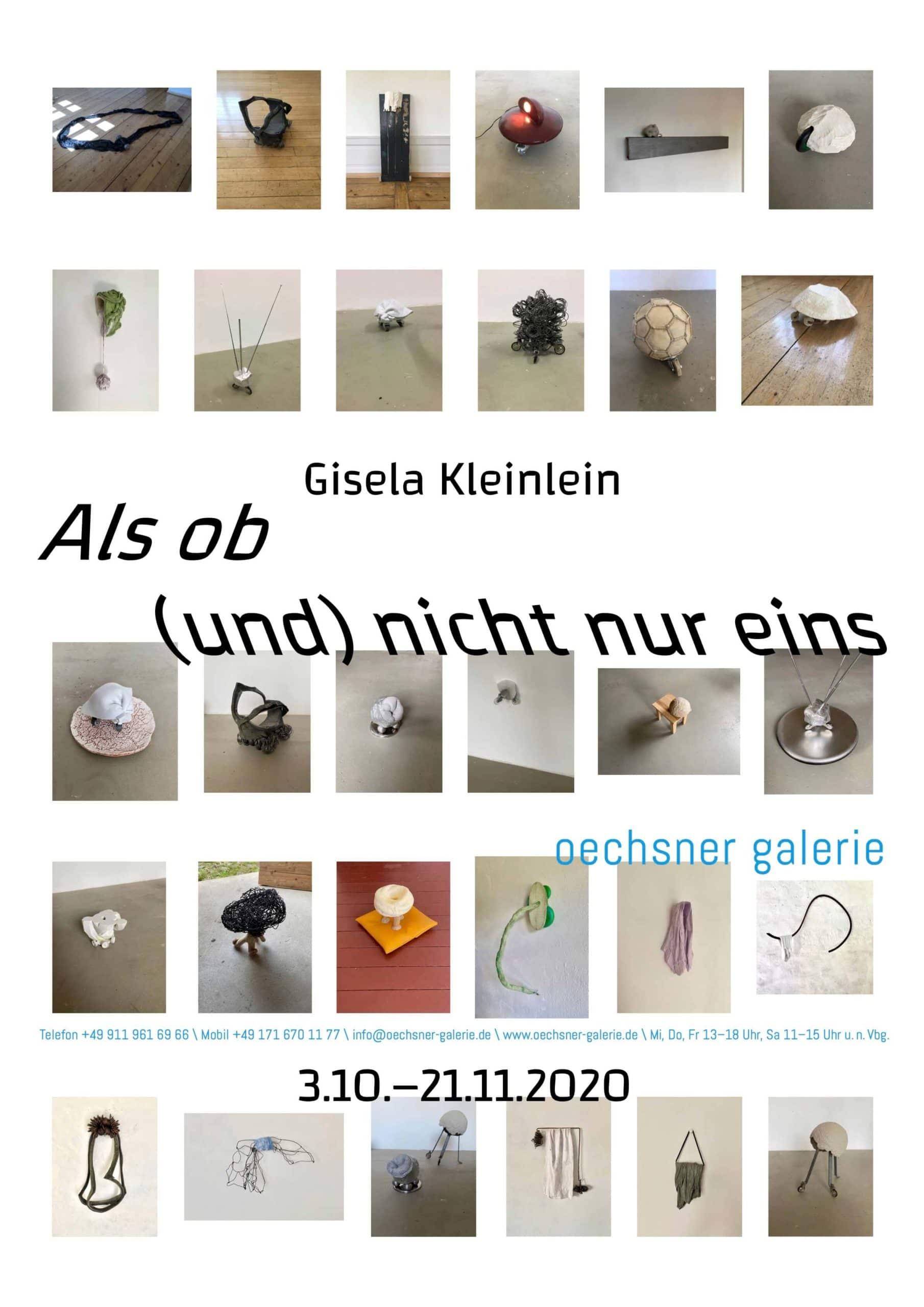 Gisela Kleinlein - als ob (und) nicht nur eins, oechsner galerie