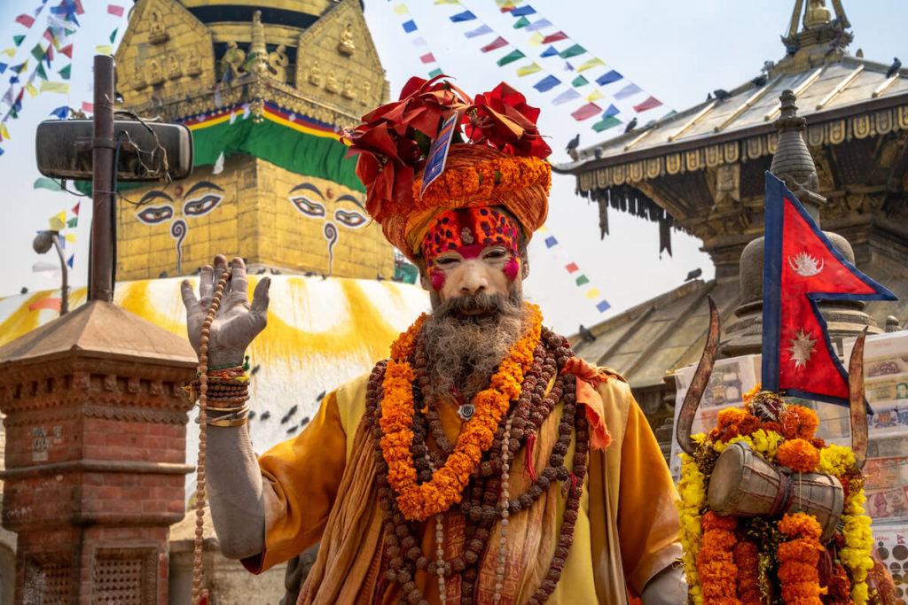 Sadhu, Swayambhunath © Julian Wirth