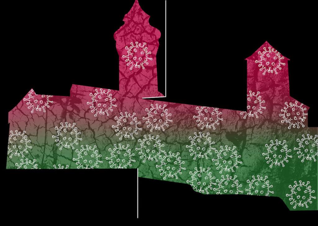 Simulation der Burgprojektion von Peter Angermann