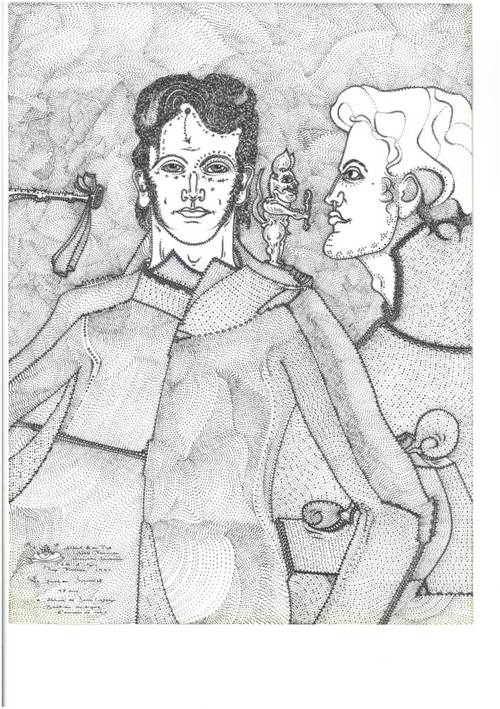 Albert Leo Peil, Le garçon Samuel, 1991, Tusche auf Papier, 32 x 24 cm, Courtesy Delmes & Zander Köln