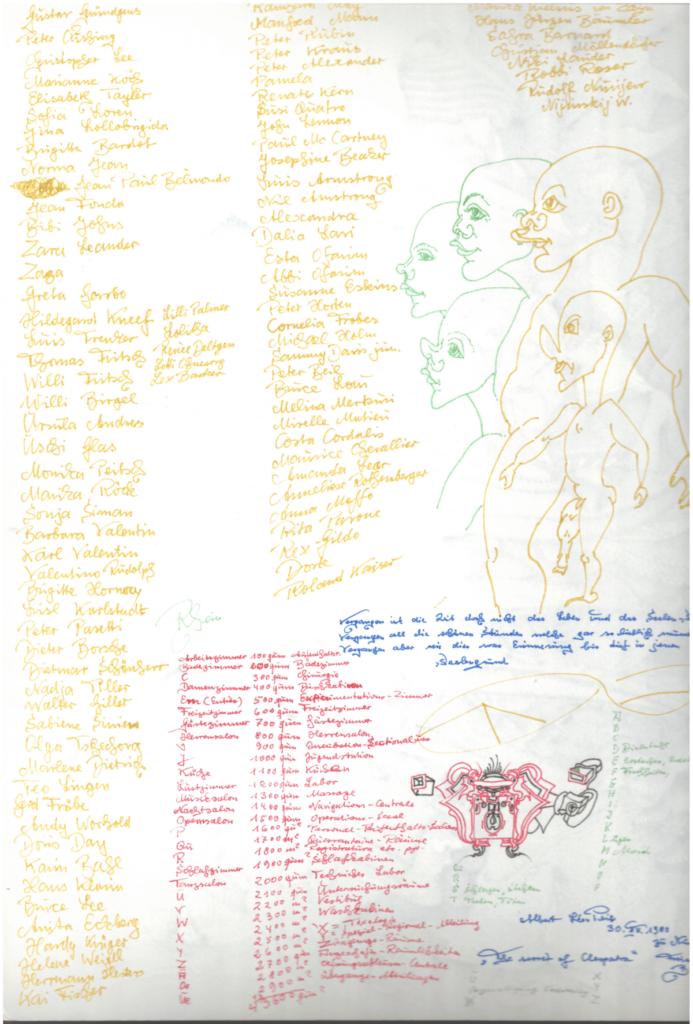 Albert Leo Peil, Rückseite: Jean Claude, 1991, Farbstift und Tusche auf Papier, 31,7 x 24 cm, Foto: kunst galerie fürth