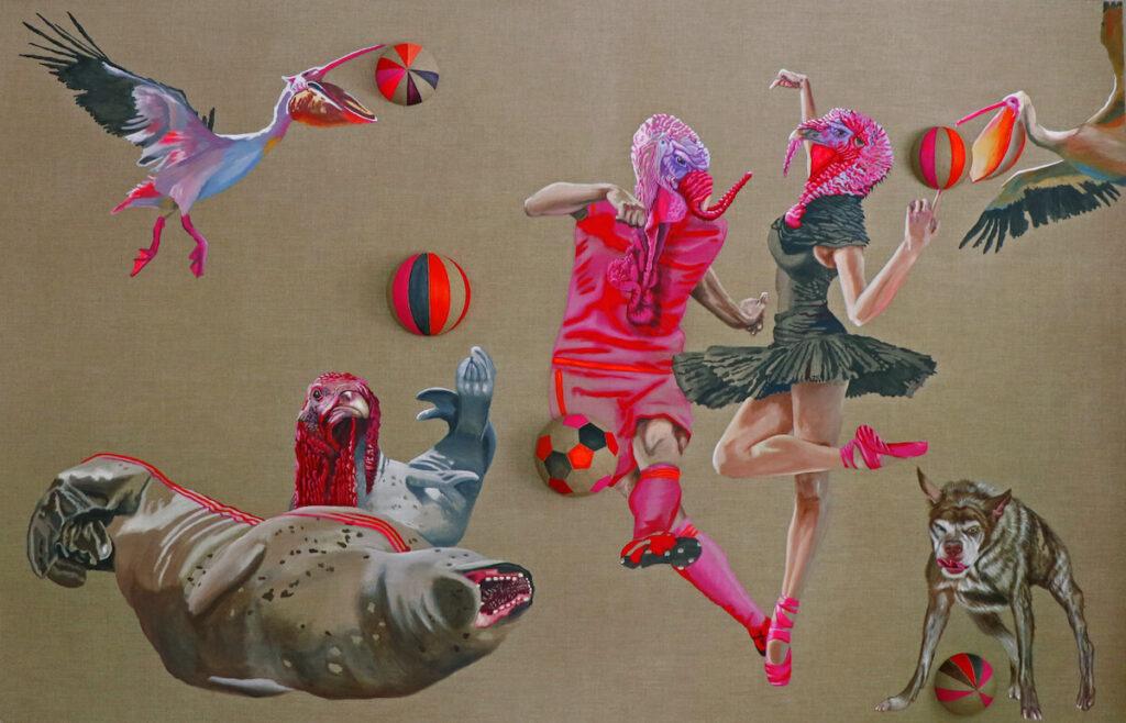Petra Krischke - Ballare 2019 – Acrylic on canvas – 180 x 280 cm - 18.000,-