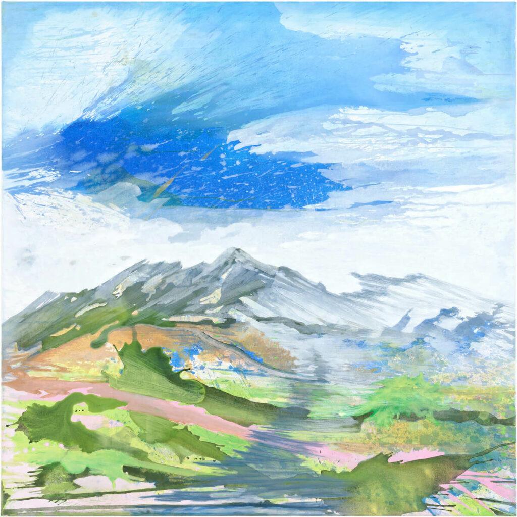 Julia Frischmann: Be Water 2019 – 150 x 150 cm – Vinyl on canvas, 4700,-